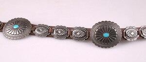 Image 2 - Fashion PU leather belt Wild cowboy belt Western Buckle style hip hop rock Jeans strap metal big buckle belt BL516