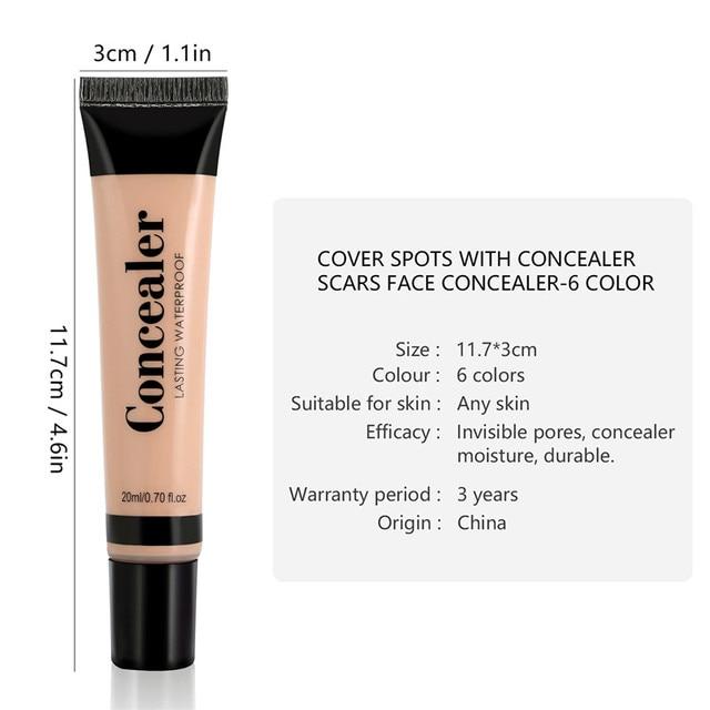 Full Cover 6 Colors Liquid Concealer Makeup 20ml Eye Dark Circles Cream Face Corrector Waterproof Make Up Base Cosmetic 5