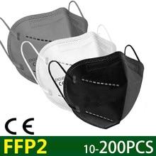 2-200 ffp2 máscara protetora kn95 poeira máscara facial filtro de 5 camadas boca máscara máscara reutilizável respirador poeira maske rápido shiping