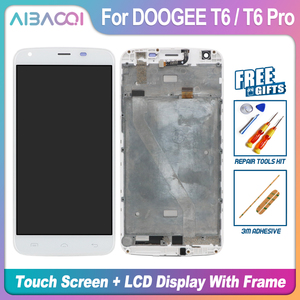 Image 2 - AiBaoQi New Original 5.5 inch Touch Screen+1280X720 LCD Display+Frame Assembly Replacement For Doogee T6/T6 Pro Android 6.0
