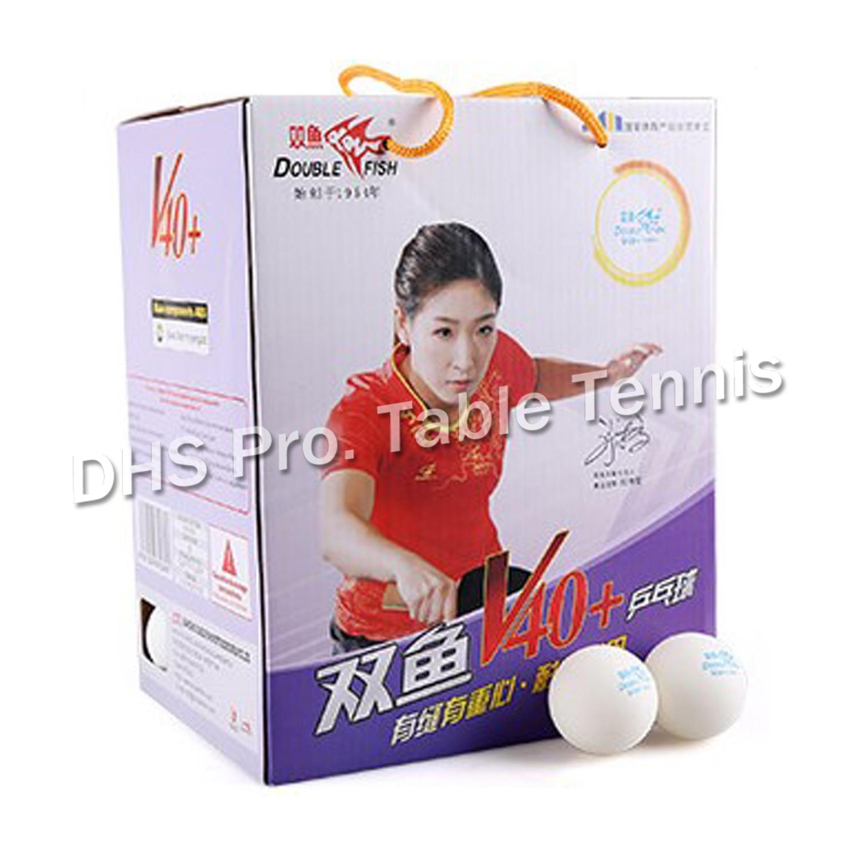 Original Double Fish NEW V40+ Training New Material Seamed PP Ball Table Tennis Ball / Ping Pong Ball 100pcs/box
