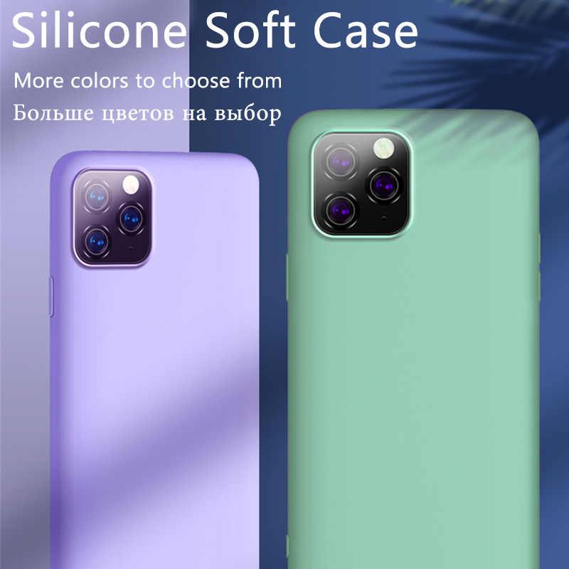 オリジナル液状シリコーン高級ケース apple の iphone 11 プロマックス 7 8 6 6 s プラス xr x xs 最大 5 5 s 、 se 2020 裏表紙耐震ケース