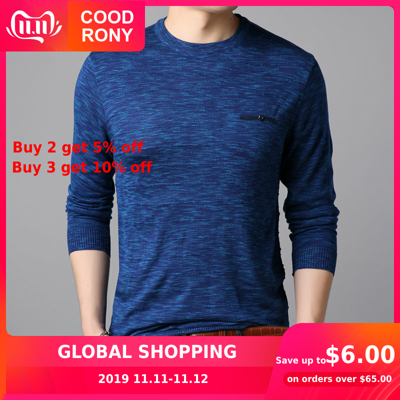 COODRONY Brand Sweater Men Casual O-neck Pull Homme Knitted Cotton Woolen Pullover Men Clothes Autumn Winter Mens Sweaters 91076