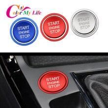 Кнопка запуска и остановки двигателя автомобиля, кольцо, Крышка зажигания, отделка для VW Golf 7 MK7 VII GTI R Tiguan Jetta CC Arteon Passat B8 Touareg T-roc