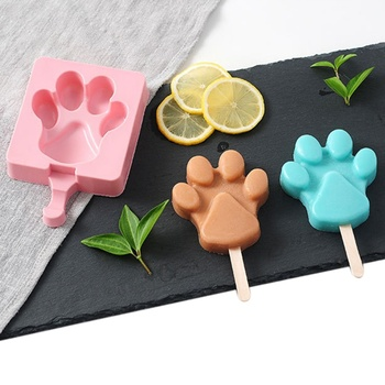 15X10CM DIY Silicone Ice Cream Mold Popsicle Molds Popsicle Maker Holder Frozen Ice Mould with 20 Popsicle Sticks фото