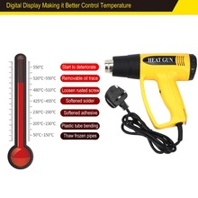 620B 2000W UK Plug Digital LCD Electric Hot Air Heat Gun Tem