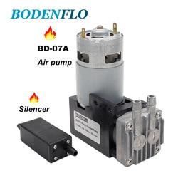 New BD-07A DC12V Mini Small Oilless Air Pump 6 Bar 38 L/Min Aluminum Head Brush Motor With Professional Pistion Gas Pump