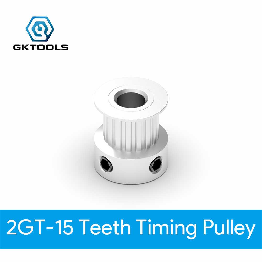 GKTOOLS GT2 poulie de distribution 2GT 15 dents alésage 5mm roues synchrones engrenage partie pour largeur 6 mm 3D imprimante pièces ceinture