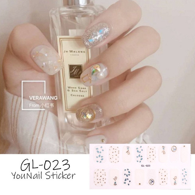 1 Sheet Glitter Series Powder Sequins Fashion Nail Art Stickers Collection Manicure DIY Nail Polish Strips Wraps for Party Decor 5