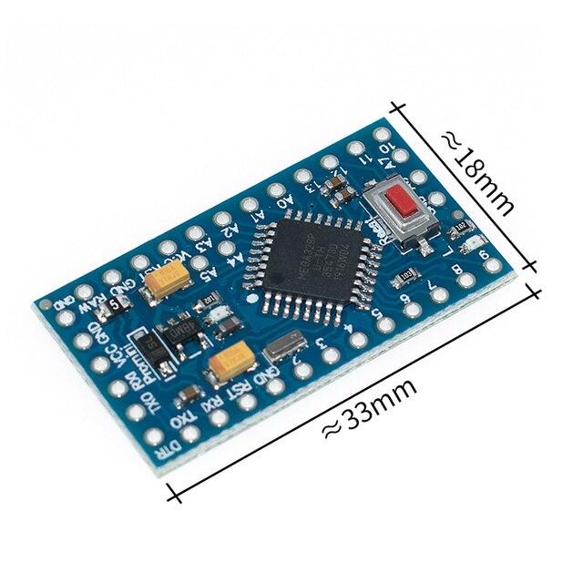 100 قطعة/الوحدة برو البسيطة 328 البسيطة 3.3 V/8 M ATMEGA328 ATMEGA328P AU 3.3V 8MHz