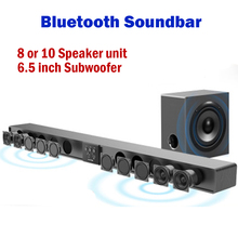L2 L3 Bluetooth Soundbar wall pure wood speaker sound bar home theater Subwoofer Bluetooth 3D surround sound 12 horn Integrate