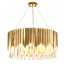 Nordic Living Room Lustre Crystal Chandelier LED Golden Round Modern Home Decoration Chandeliers Indoor Lighting Luminaire Lamp