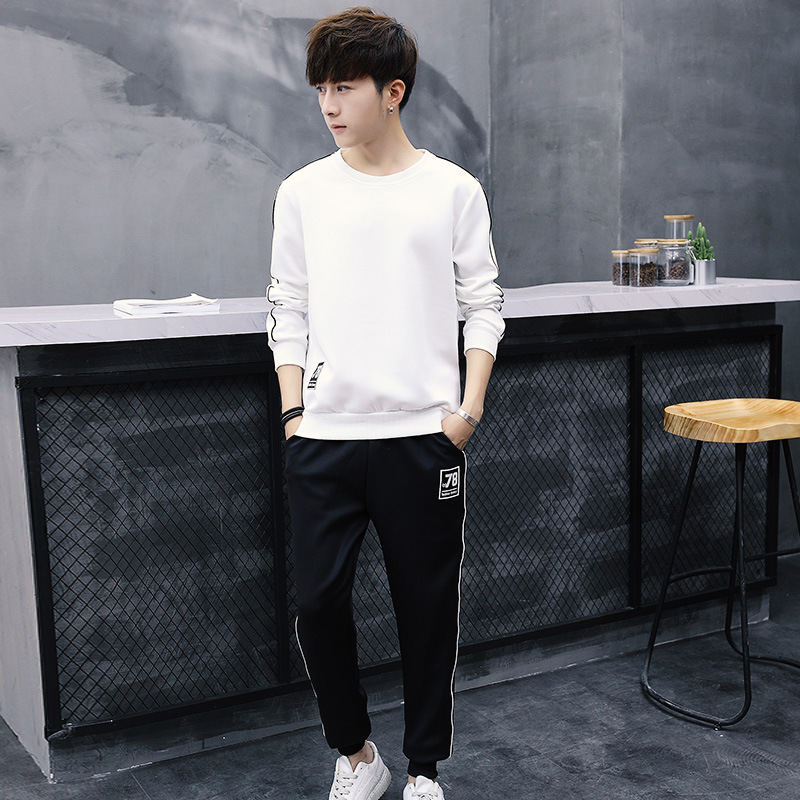 Couples Sports Set Men Spring And Autumn Casual Sports Clothing Hoodie Young And Middle-aged Two-Piece Set Coat Couple Clothes S