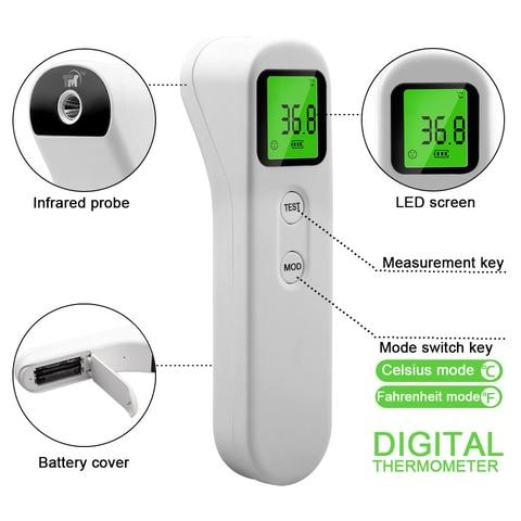 testa corpo arma digital sem contato dispositivo de medicao temperatura