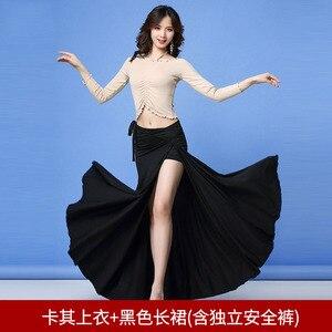 Image 1 - 2019 nowa jakość zestaw do tańca brzucha bellydance pratice odzież orientalny zestaw do tańca gaza 3 rodzaje metod noszenia