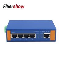 Industrial Portas Ethernet Switch de Rede 5 10/100 m Signal Fortalecer Tipo Trilho DIN