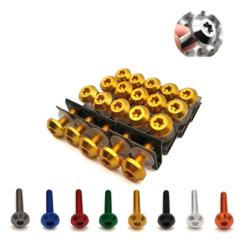 Universal Motorcycle Fairing Screws Fastener Clips Body Spring Bolts Kit For Honda SL230 CRF 450R 250 450 X 230F XR 230 250 400 image