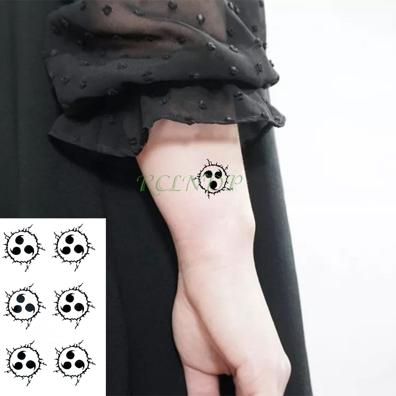 Waterproof Temporary Tattoo Sticker Naruto Anime Fake Tatto Stickers Flash Tatoo Hand Foot Body Art For Girl Men Women Kids