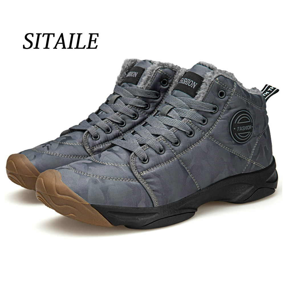 SITAILE Non-slip Snow Boots Soft Keep Warm Men Shoes Brand Comfortable Outdoor Shoes Men High Quality Outdoor Winter Boots Men