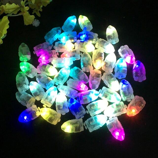 100 Cái/lốc LED Flash Đèn Bóng Đèn Lồng Đèn Giấy Bóng Trắng Vàng Hoặc Nhiều Màu Cho Tiệc Cưới