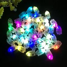 100 Stks/partij Led Flash Lampen Ballon Verlichting Voor Papieren Lantaarn Ballonnen Wit Geel Of Multicolor Wedding Party Decoratie