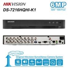 Hikvision ds 16CH Supporto Max 6MP Turbo HD DVR di Video Recoder 5 in 1 per HDTVI/AHD/CVI/ CVBS/IP video di ingresso H.265 pro + DS 7216HQHI K1