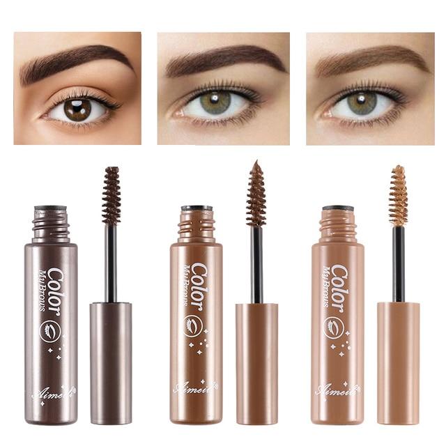 3 Colors Natural Eyebrow Enhancers Gel Tattoo Waterproof Eyebrow Mascara Cream Dye Eye Brow Tint Makeup Long Lasting Brown Gel