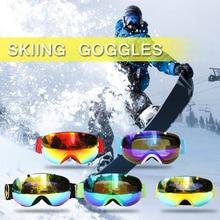 Winter Sports Ski Goggles UV400 Protection Snowboard Goggles Spherical Snow Skating Skiing Goggle Detachable Dual Lens Goggles цена