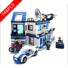 New City Series Toys Police Department Compatible Lepinzk City Series 6957 Building Blocks Toys for Children Birthday Gift new city series toys arctic supply plane compatible lepinngly city 60196 building blocks toys for children birthday gift