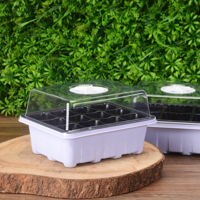 NEW 6/12 Holes Plastic Nursery Pots Planting Seed Tray Kit Plant Germination Box With Dome Garden Grow Box Gardening Supplies