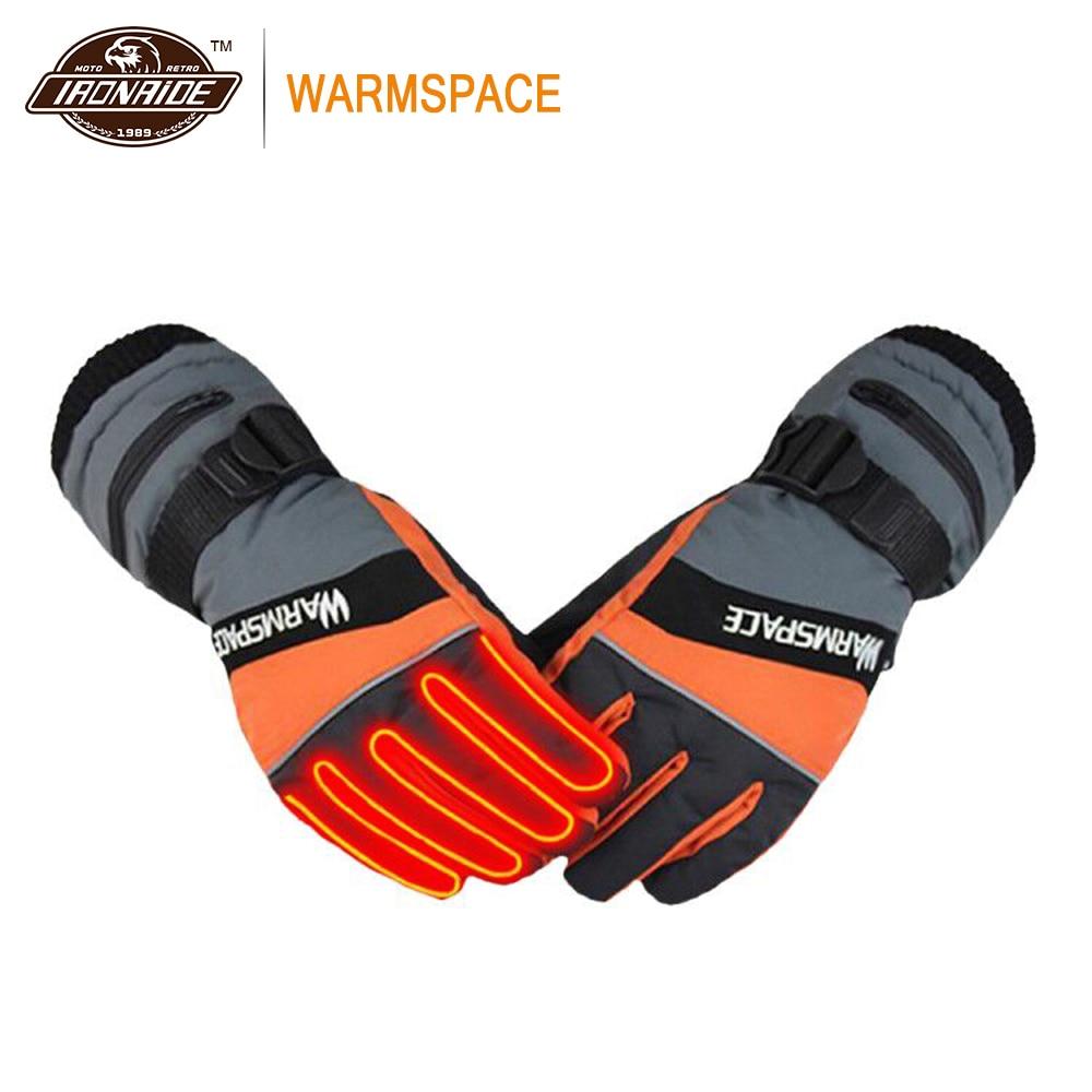 WARMSPACE gants de Moto gants chauffants à piles équitation imperméable gants de Moto d'hiver écran tactile Gant Moto