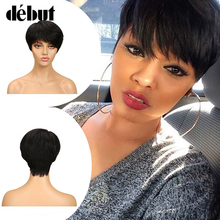 Debut Natural Color Short 100% Human Hair Wigs For Black Wom