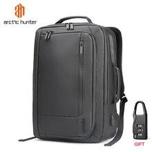 Арктический Хантер ноутбук рюкзак с usb-портом школьная сумка Защита от кражи Для мужчин 17 дюймовый ЖК рюкзаку, дорожные сумки мужской досуг рюкзак Mochila