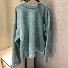 2019 Autumn Sweater Loose Leisure Lazy Wind Round Collar Long Sleeve Pure Wool Pullovers O-Neck Clothes Women Sweaters
