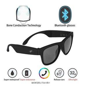 Image 4 - ワイヤレス防水bluetooth低音ハイファイスマートメガネsmarttouchハンズフリー通話音楽サングラスとマイク