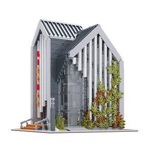 MOC 2734 шт., серия City Streetview, современный набор кирпичной библиотеки, строительные блоки, кирпичи, детские игрушки, подарки на день рождения