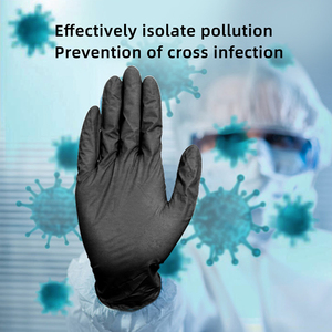 Image 2 - Nitrile Gloves Black 100pcs Food Grade Waterproof Allergy Free Disposable Work Safety Gloves Nitrile Gloves Mechanic Synthetic