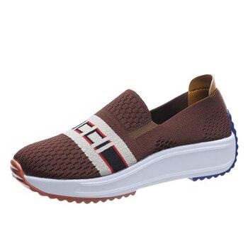 Zapatillas de correr para mujer, calzado deportivo informal antideslizante, transpirable, de gran...