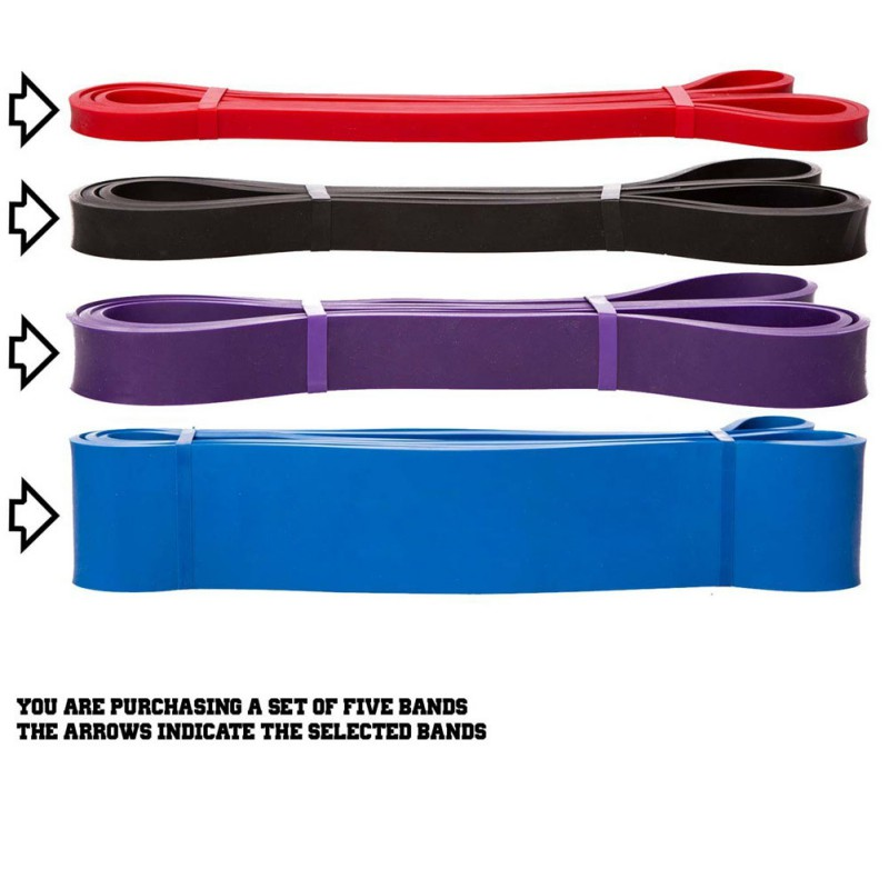 Fitness Resistance Bands Natural Latex Rubber Loop Gym Expander Strengthen Trainning Power Fitness Pull Up Elastic Bands