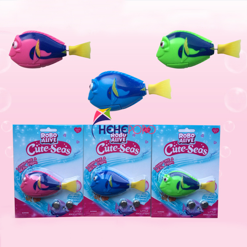 3 Pcs / Lot Swimming Electronic Fish Activated Battery Powered Toy Fish Robotic Pet Electronic Toys For Children Kids