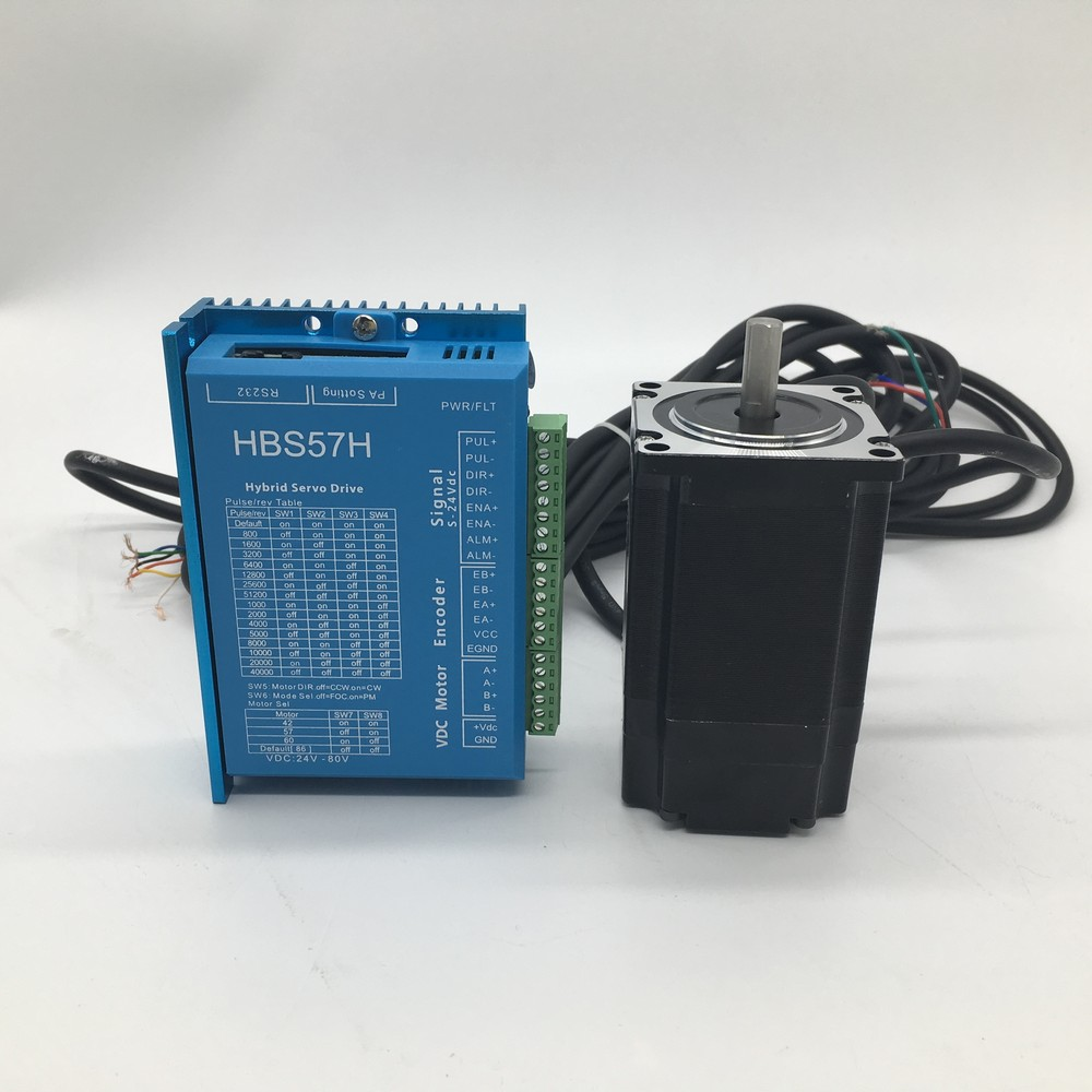 Encoder Nema23 <font><b>57mm</b></font> 57 2.2Nm DC DSP 2Phase Closed Loop Stepper Motor <font><b>Driver</b></font> 2NM Kit Hybird Easy Step Servo 1000Line 3m Cables image