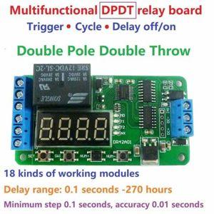 Dykb dc 12v multifunction dpdt relé ciclo temporizador tempo de atraso gatilho no interruptor desligado led digital para casa inteligente conduziu o motor de iluminação