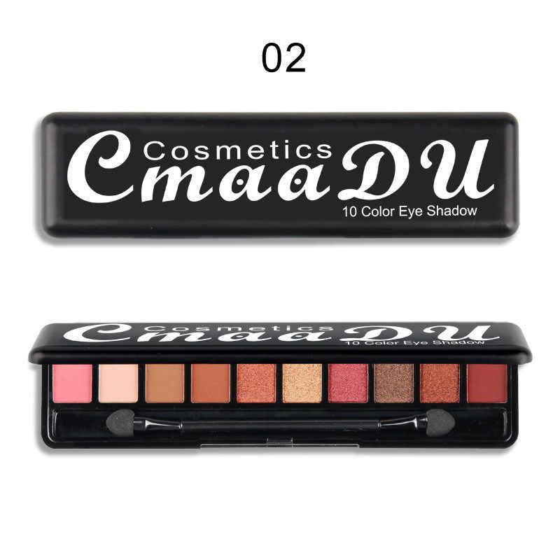 Cmaadu 10 色パレットパールグリッターヌードメイクアップ化粧品ツールTSLM1