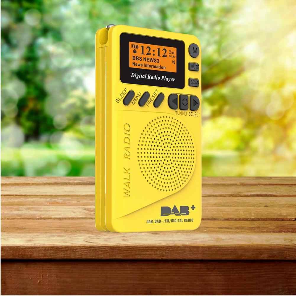 Met Lcd-scherm Luidspreker Draagbare Speaker DAB Digitale Radio Ingebouwde Luidspreker Ondersteuning Pocket FM TF Card Radio