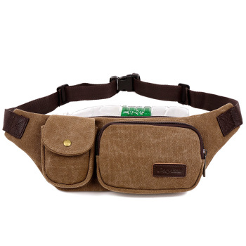 New Canvas Waist Bag Fashion Sports Bag Multifunctional Waterproof Waist Bag