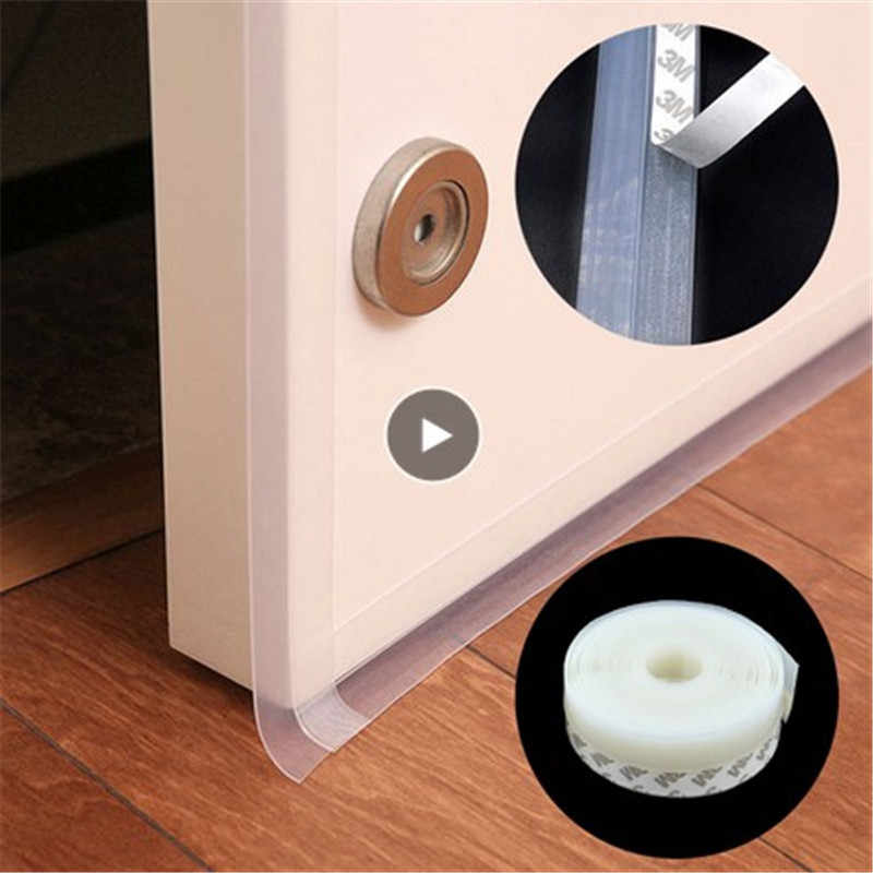 1//2//3//4M Weather Stripping Door Seal Strip Self Adhesive Silicone Bottom Stopper