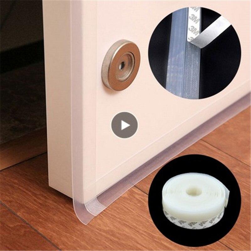 5m Silicone Weather Strip Insulation Door Window Draft Sealing Tape Adhesive LF
