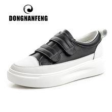 Женские туфли на платформе dongnanfeng белые из натуральной