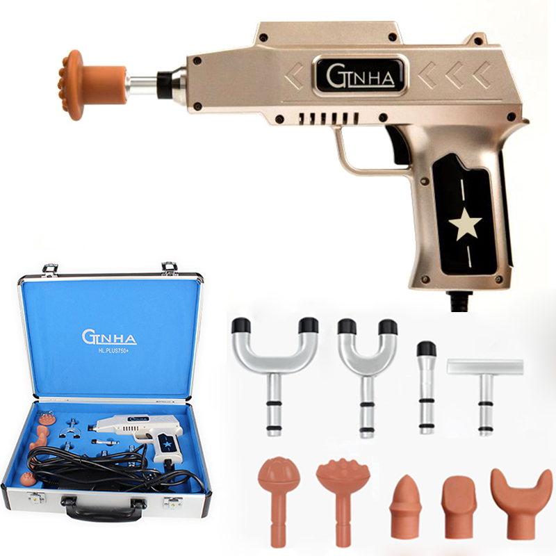 750N 10 Heads Chiropractic Adjusting Instrument Adjustable Intensity Therapy Spine Chiropractic Electric Bone Correction Gun
