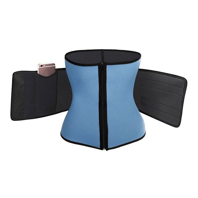 1PC Women Sauna Thermo Shaper Sweat Waist Trainer Belt Slimming Vest Corset Black Blue 3